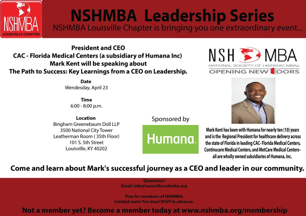 Mark Kent NSHMBA Leadership Series